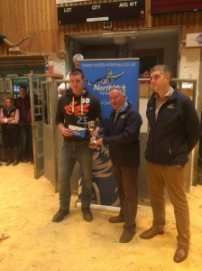 DANIEL HENRY PRIZE FOR STEER WITH BEST OVERALL DAILY WEIGHT GAIN PRESENTED BY STUART GARRETT AND KRIS BEVAN (NORTHLINK)
